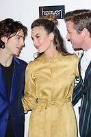 Timothee Chalamet, Elizabeth Chambers and Armie Hamme<br /> arriving for the Critic's Circle Film Awards 2018, Mayfair Hotel, London<br /> <br /> <br /> ©Ash Knotek  D3374  28/01/2018