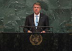 72 General Debate – 20 September <br /> <br /> His Excellency Klaus Werner Iohannis, President of Romania