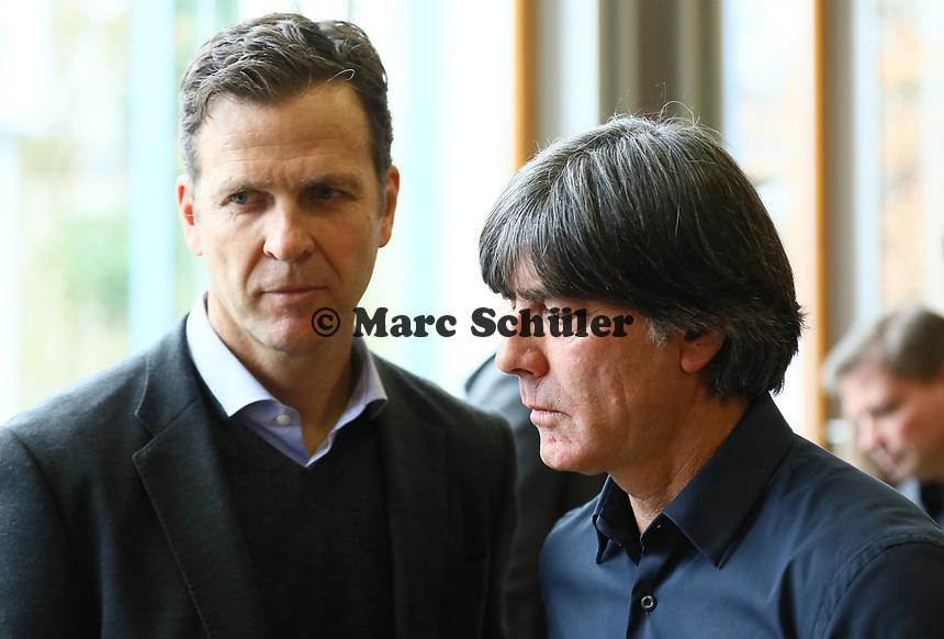 Bundestrainer Joachim Loew (Deutschland Germany) mit Teammanager der Nationalmannschaft Oliver Bierhoff (Deutschland Germany) - 15.03.2019: Pressekonferenz der Deutschen Nationalmannschaft, DFB Zentrale Frankfurt