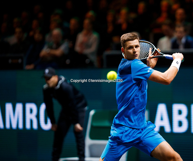 Rotterdam, The Netherlands, 11 Februari 2020, ABNAMRO World Tennis Tournament, Ahoy, <br /> Hubert Hurkacz (POL). <br /> Photo: www.tennisimages.com
