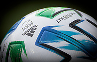 LOS ANGELES, CA - MARCH 01: ADIDAS NATIVO XXV MLS Ball during a game between Inter Miami CF and Los Angeles FC at Banc of California Stadium on March 01, 2020 in Los Angeles, California.