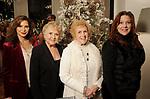 Diana Garcia, Alma Garcia, Cindy Davies and Violet Gonzalez at the M.D. Anderson Santa's Elves party Thursday Dec. 07,2017. (Dave Rossman Photo)