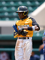 Lakewood Spartans Torry Jones (21) during the 42nd Annual FACA All-Star Baseball Classic on June 5, 2021 at Joker Marchant Stadium in Lakeland, Florida.  (Mike Janes/Four Seam Images)