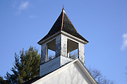 Province Road Meeting House during the autumn months. Located in Belmont,  New Hampshire USA....