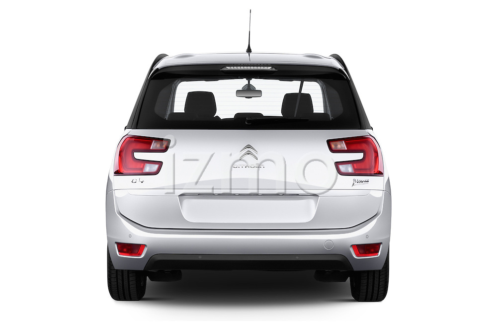 Straight rear view of a 2013 Citroen GRAND C4 PICASSO Intensive 5 Door Minivan 2WD