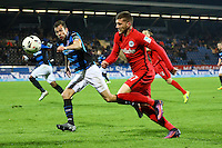 Ante Rebic (Eintracht Frankfurt) gegen Sebastian Schachten (FSV Frankfurt) - 10.11.2016: FSV Frankfurt vs. Eintracht Frankfurt, Frankfurter Volksbank Stadion