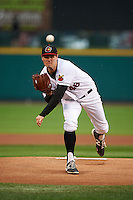 Rochester Red Wings pitcher Jason Wheeler (48) delivers a warmup pitch during a game against the Lehigh Valley IronPigs on May 15, 2015 at Frontier Field in Rochester, New York.  Rochester defeated Lehigh Valley 5-4.  (Mike Janes/Four Seam Images)