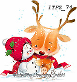 Fabrizio, Comics, CHRISTMAS ANIMALS, WEIHNACHTEN TIERE, NAVIDAD ANIMALES, paintings+++++,ITFZ74,#xa#