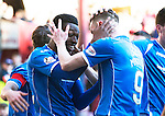 Hearts v St Johnstone…19.03.16  Tynecastle, Edinburgh<br />Darnell Fisher celebrates his goal<br />Picture by Graeme Hart.<br />Copyright Perthshire Picture Agency<br />Tel: 01738 623350  Mobile: 07990 594431