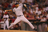 Mariano Rivera of the New York Yankees during a 2007 MLB season game against the Los Angeles Angels at Angel Stadium in Anaheim, California. (Larry Goren/Four Seam Images)