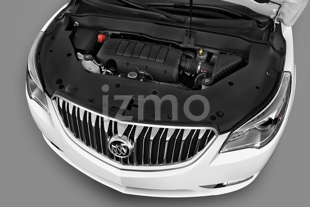High angle engine detail of 2013 Buick Enclave