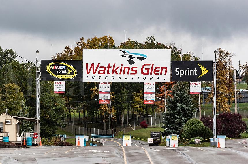 Watkins Glen International Race Track entry gate, Watkins Glen, New York, USA