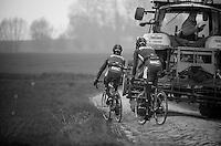 Paris-Roubaix 2012 recon..traditional Roubaix traffic jam
