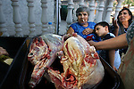 A lamb is prepared during a Roma wedding in Northwest Bulgaria in August 2008.