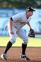 Tri-City ValleyCats third baseman Matt Duffy #40 during a game against the Batavia Muckdogs at Dwyer Stadium on July 14, 2011 in Batavia, New York.  Batavia defeated Tri-City 6-3.  (Mike Janes/Four Seam Images)