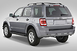 Rear three quarter view of a 2008 Ford Escape Hybrid