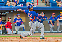 5 March 2015: New York Mets outfielder Cesar Puello at bat against the Washington Nationals at Space Coast Stadium in Viera, Florida. The Mets fell to the Nationals after a late inning rally, dropping a 5-4 Grapefruit League game. Mandatory Credit: Ed Wolfstein Photo *** RAW (NEF) Image File Available ***