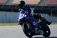 30th March 2021; Barcelona, Spain; Superbikes, WorldSSP600 , day 2 testing at Circuit Barcelona-Catalunya;   P. Szkopek riding Yamaha YZF R6 from MS Racing
