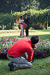 10 March 2015, Kandy, Sri Lanka:  A couple of Sri Lankan newlyweds having their photographs done at the Botanic Gardens in Kandy, Central Province, Sri Lanka. Kandy is the second largest city in the country after Colombo. It was the last capital of the ancient kings' era of Sri Lanka. The city lies in the midst of hills in the Kandy plateau, which crosses an area of tropical plantations, mainly tea. Kandy is both an administrative and religious city and is also the capital of the Central Province. Kandy is the home of The Temple of the Tooth Relic (Sri Dalada Maligawa), one of the most sacred places of worship in the Buddhist world. It was declared a world heritage site by UNESCO in  1988. Picture by Graham Crouch for the New York Times