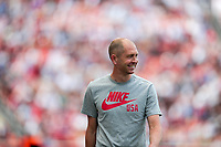 SANDY, UT - JUNE 10: Gregg Berhalter head coach of USA is all smiles during a game between Costa Rica and USMNT at Rio Tinto Stadium on June 10, 2021 in Sandy, Utah.