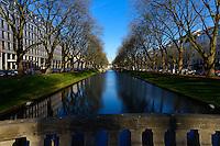 Stadtgraben Moat in Konigsalee, Dusseldorf, Germany