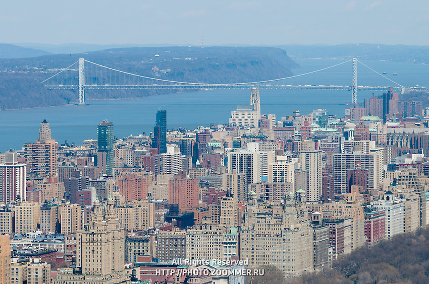 Upper Manhattan buildings and Washington bridge