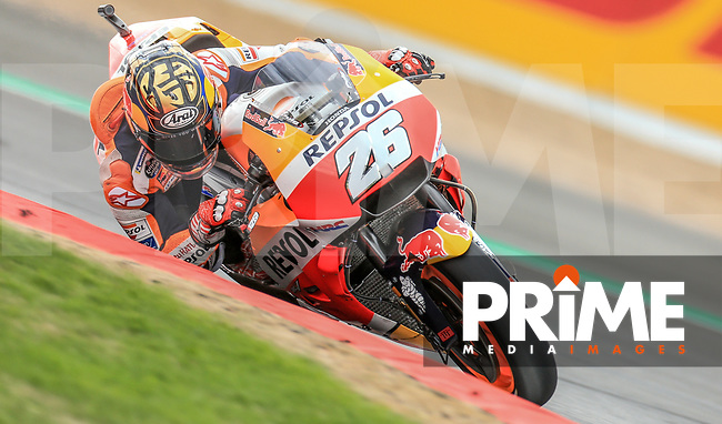 Dani Pedrosa (26) of the Repsol Honda Team race team during the GoPro British MotoGP at Silverstone Circuit, Towcester, England on 24 August 2018. Photo by Chris Brown / PRiME Media Images