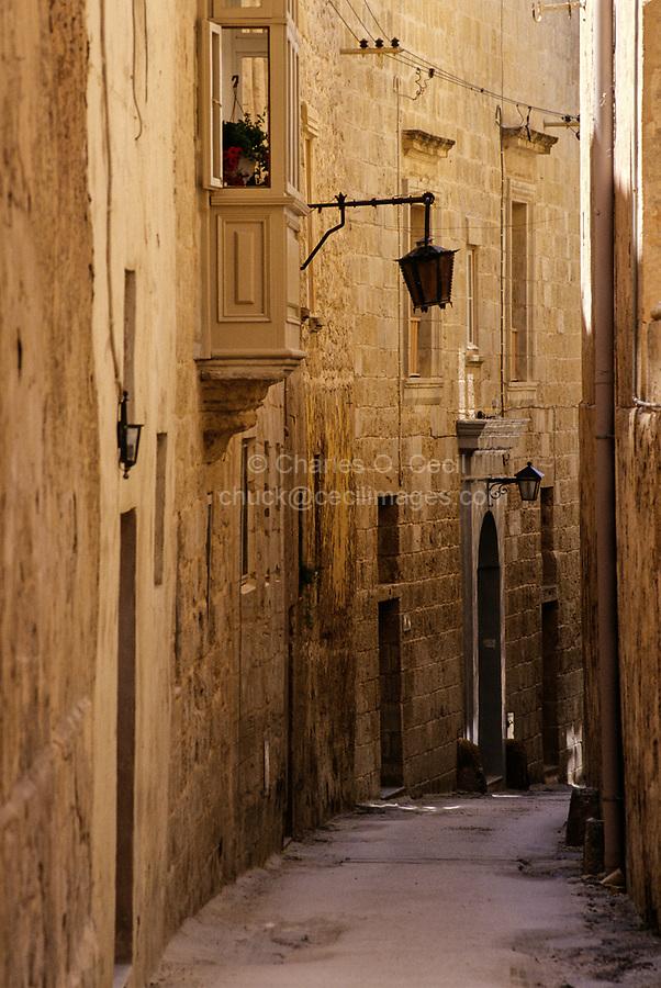 Mdina, Malta.  Saint Peter Street.