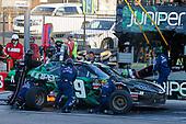 #19: Brandon Jones, Joe Gibbs Racing, Toyota Supra Juniper pit stop