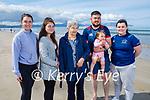 Enjoying a stroll in Banna beach on Sunday, l to r: Sinead and Niamh McCourt, Chris Sheehan, Tony and Grace Cunningham and Siobhan McCourt.