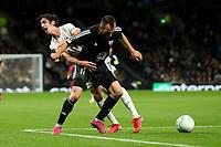 30th September 2021; Tottenham Hotspur Stadium. Tottenham, London, England; UEFA Conference League football, Tottenham v NS Mura: Ziga Kous of NS Mura fouls Bryan Gil of Tottenham Hotspur