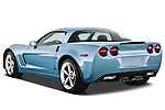 Rear three quarter view of a 2012 Chevrolet Corvette GS Coupe