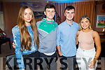 Fionnuala O'Sullivan, Aodhan and Nick Cotter and Aoife Foley from Abbeyfeale attending the MUNDY concert in O'Riadas on Saturday.