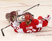Erin Connolly (BC - 15), Natalie Flynn (BU - 21) - The Boston College Eagles defeated the visiting Boston University Terriers 5-3 (EN) on Friday, November 4, 2016, at Kelley Rink in Conte Forum in Chestnut Hill, Massachusetts.The Boston College Eagles defeated the visiting Boston University Terriers 5-3 (EN) on Friday, November 4, 2016, at Kelley Rink in Conte Forum in Chestnut Hill, Massachusetts.