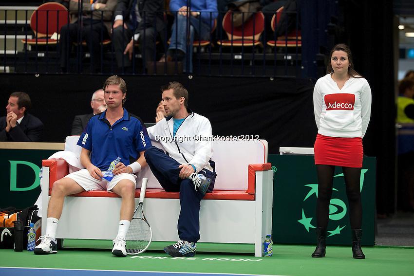 10-02-12, Netherlands,Tennis, Den Bosch, Daviscup Netherlands-Finland,   Juho Paukku