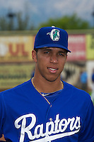 Alex Santana (21) of the Ogden Raptors prior to the game against the Grand Junction Rockies at Lindquist Field on September 8, 2013 in Ogden Utah.  (Stephen Smith/Four Seam Images)