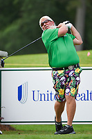 April 29th 2021, The Woodlands, Texas USA;  John Daly watches his tee shot on 1 during the preview of the 2021 Insperity Invitational at The Woodlands Country Club on April 29, 2021 in The Woodlands, Texas.