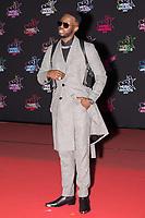 Djuna Nsungula aka Dadju poses on the red carpet as she arrives to attend the 21st NRJ Music Awards ceremony at the Palais des Festivals in Cannes, southeastern France, on November 9, 2019<br /> Djuna Nsungula alias Dadju pose sur le tapis rouge lors de son arrivee a la 21e ceremonie des NRJ Music Awards au Palais des Festivals a Cannes, dans le sud-est de la France - le 9 novembre 2019.<br /> Eric Dervaux_ DALLE