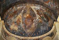 Europe/France/Midi-Pyrénées/09/Ariège/Couserans/Montgauch: Eglise - Fresques romanes XIIème - Christ en Gloire