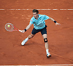 Nicolas Mahut loses at Roland Garros in Paris, France on June 1, 2012