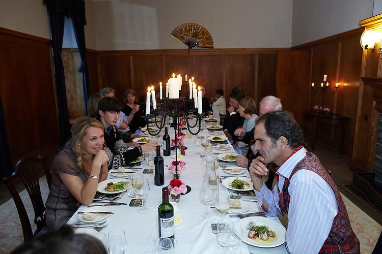 © John Angerson..Dinner party at Arisaig house Ranald Macdonald