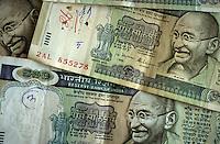 INDIA, 500 rupee banknotes with Mahatma Gandhi image / INDIEN, indische Geldscheine 500 Rupien mit Mahatma Gandhi Bildnis