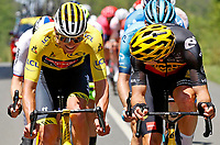 2nd July 2021; Le Creusot, France;  VAN DER POEL Mathieu (NED) of ALPECIN - FENIX and VAN AERT Wout (BEL) of JUMBO - VISMA during stage 7 of the 108th edition of the 2021 Tour de France cycling race, a stage of 249,1 kms between Vierzon and Le Creusot