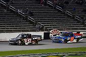 #51: Harrison Burton, Kyle Busch Motorsports, Toyota Tundra DEX Imaging, #52: Stewart Friesen, Halmar Friesen Racing, Chevrolet Silverado We Build America