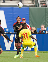 San Francisco, California - Saturday March 17, 2012: Darvin Chavez looks at the ball during the Mexico vs Senegal U23 in final Olympic qualifying tuneup. Mexico defeated Senegal 2-1