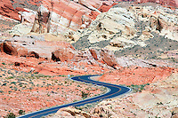 Road through Valley of Fire State Park, Nevada