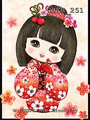 Kayomi, CHILDREN, KINDER, NIÑOS, paintings+++++KimonoGirl_PaperCrane,USKH251,#k# ,everyday