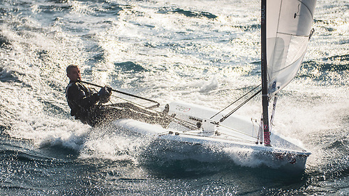 An RS Aero downwind sailing