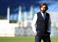 Football, Serie A: S.S. Lazio - Juventus Olympic stadium, Rome, November 8, 2020. <br /> Juventus' coach Andrea Pirlo prior to the Italian Serie A football match between Lazio and Juventus at Olympic stadium in Rome, on November 8, 2020.<br /> UPDATE IMAGES PRESS/Isabella Bonotto