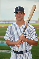 Staten Island Yankees Josh Smith (26) poses for a photo before a NY-Penn League game against the Aberdeen Ironbirds on August 22, 2019 at Richmond County Bank Ballpark in Staten Island, New York.  Aberdeen defeated Staten Island in a rain shortened game.  (Mike Janes/Four Seam Images)